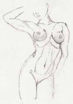 Breasts frontal nude with arm raised