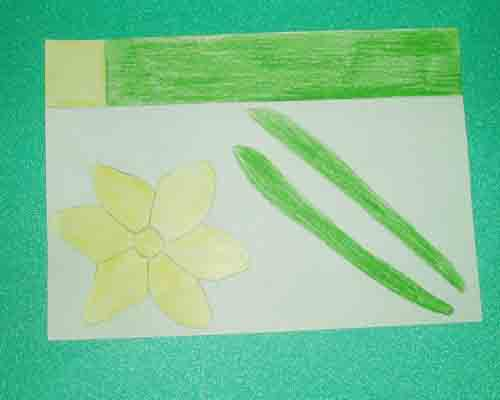 Daffodil coloured template