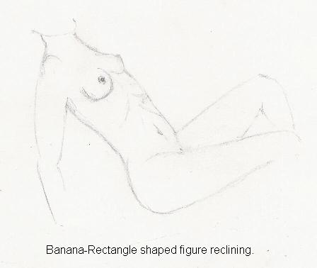 nude. The Banana/Rectangle figure reclining