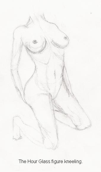nude. The hour glass figure kneeling.