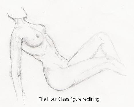 nude. The hour glass figure reclining