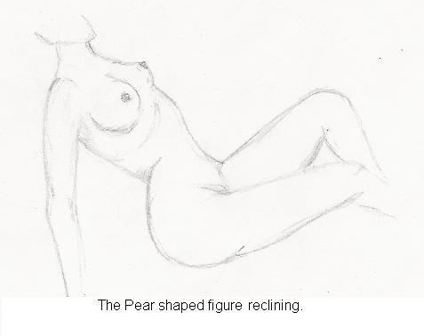 The pear shaped figure reclining