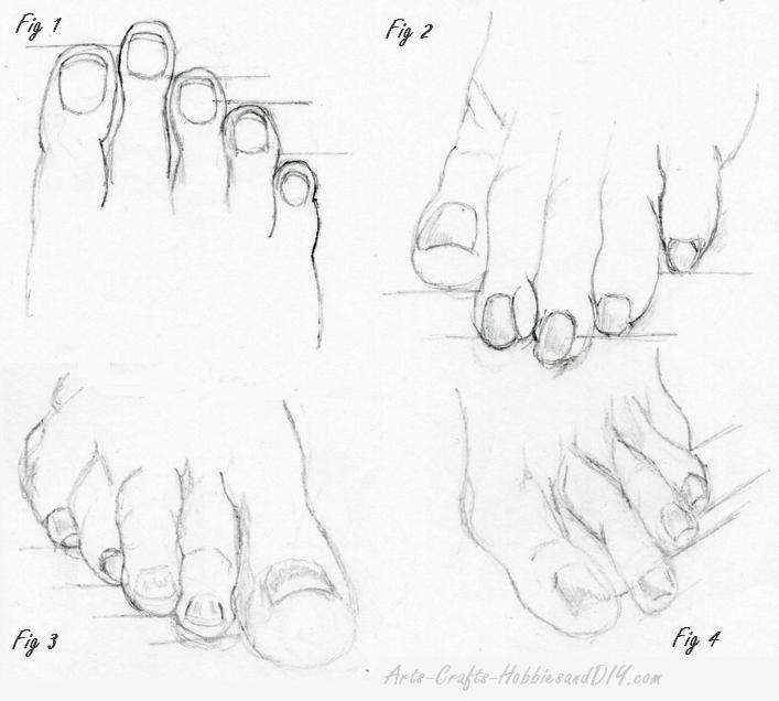 How to draw toes sketch 1