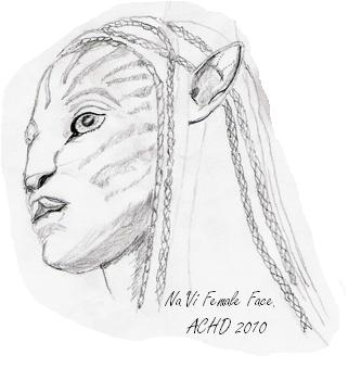 Avatar Na'Vi female with braided hair example