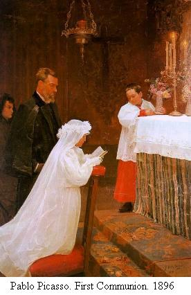 Pablo Picasso, First communion