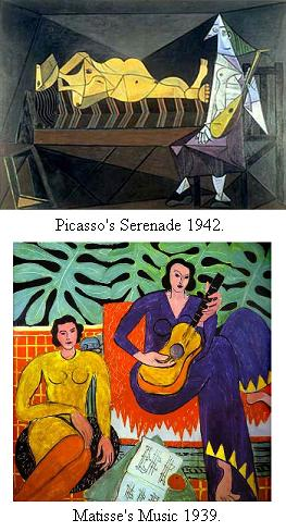 Picasso's serenade and music by Matisse