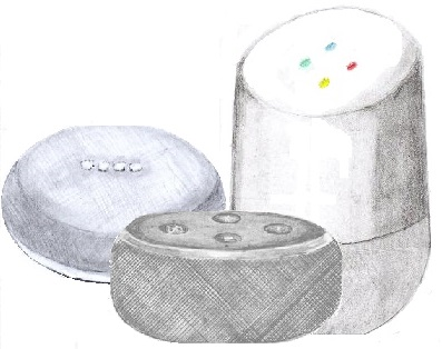 How to draw an Amazon smart speaker.