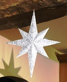 A simple step by step tutorial on how to make a 3D Star of Bethlehem Christmas decoration with free downloadable templates.