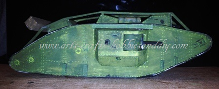 How to make a model WWI Landship