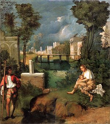 art links The Tempest. The Tempest by Giorgione