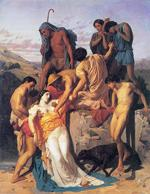 Adolphe William Bouguereau. Zenobia Found by Shepherds on the Banks of the Araxis (c1850)