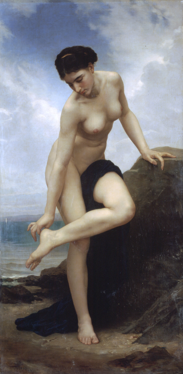 Nude after the bath. Apres le bain. (1875)