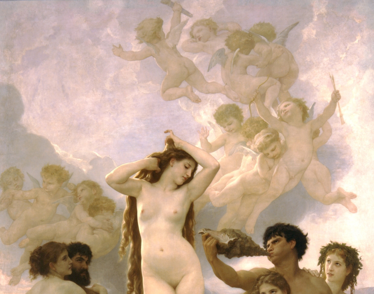 A chorus of cherubs circle behind Venus