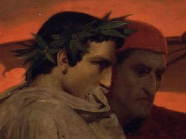 Dante and Virgil looking upon the sins of wrath and sullenness