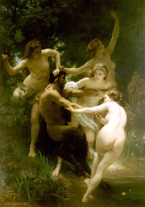 William Bouguereau. Nymphs and Satyrs (c1873)