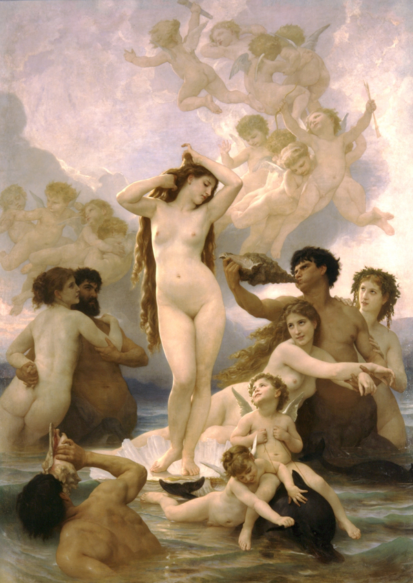 The birth of Venus. Venus rising. la naissance de Venus c1879