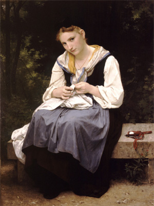 Jeune Ouvriere, Young Worker by William Bouguereau